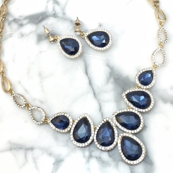 Cherryl's Jewelry - Faceted Crystal Statement Necklace Party Prom Wed